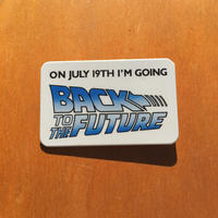 BACK TO THE FUTURE Promotion Button/バックトゥザフューチャー プロモーション 缶バッジ/190114-5