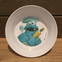 SESAME STREET Cookie Monster Plastic Bowl (Damage)/セサミストリート クッキーモンスター プラスチックボウル (ダメージ)/190417-8