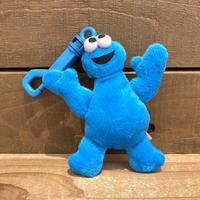 SESAME STREET Cookie Monster Mini Plush Clip/セサミストリート クッキーモンスター ミニプラッシュクリップ/200417-2