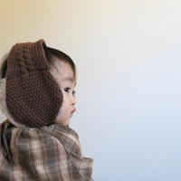 fuwa fuwa ear muff / イヤーマフ / 耳あて / ニット / クリーム / ブラウン / ベビー / キッズ / 秋冬