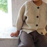 wool knit  cardigan / カーディガン / ベージュ / カーキ / 丸襟 / ベビー / キッズ / 男の子 / 女の子 / 秋