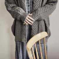 再入荷 // Adult cute alan knit cardigan / カーディガン /  ニット / モカ / お揃い / レディース / ママ / 秋冬