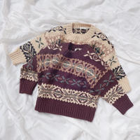 BN jacquard knit / ジャガード / ニット /  セーター / キッズ / 男の子 / 女の子 / 秋