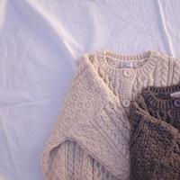 cute alan knit cardigan / カーディガン / ニット / お揃い / クリーム / モカ / キッズ / 秋冬