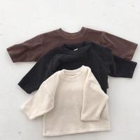 winter basic tee / カットソー / 長袖 / ホワイト / ブラウン / チャコール / ベビー / キッズ / 秋冬