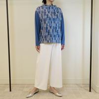 カラーブロックジャージ刺繍*トップス(11UB002)