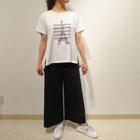 コットン天竺×エッフェル刺繍*カットソー (01UAS004)