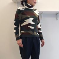 カモフラ柄インターシャ*セーター (83KSW021)