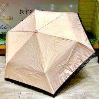 【折 日傘 55cm 暴風シリーズ】傘専門店 通販 東京 折りたたみ傘 UV 日傘 雨傘 晴雨兼用 遮光 遮熱 旅傘【清涼効果 Lace Pink】