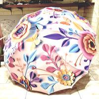【フラワー骨シリーズ】傘専門店 通販 東京 折りたたみ傘 雨傘  サビない レディース メンズ 旅傘【A式 Flower A】