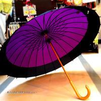 【人気】傘専門店 通販 東京 メンズ レディース 雨傘 サビにくい 旅傘【蛇の目 24本骨 深紫 】