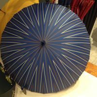 【製造終了】傘専門店  通販  東京  雨傘  グラスファイバー  サビない  軽量  旅傘  【24本骨   モダン風ストライプ】