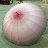 傘専門店  通販  東京  雨傘  ワンタッチ  ジャンプ  グラスファイバー  サビない  旅傘  【16本骨  グラデーション  グレー×ピンク】