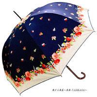 -18~19℃ 傘専門店 通販 東京 日傘 雨傘 晴雨兼用 ワンタッチ ジャンプ グラスファイバー 軽量 サビない 旅傘 【シルバーコート  cuteflower Blue】