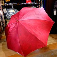 内花シリーズ 傘専門店 通販 東京 雨傘 ワンタッチ ジャンプ 黒骨 サビにくい 軽量 旅傘【サテンFlower  赤】