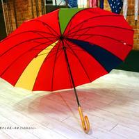 36本限定生産 傘専門店 通販 東京 雨傘 オリジナル メンズ レディース グラスファイバー サビない 超軽量 旅傘【3駒 紅-黄/紺/緑】  のコピー