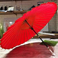 【和紙 蛇の目傘】傘専門店 通販 東京 折りたたみ傘  レディース メンズ 旅傘【無地 紅】