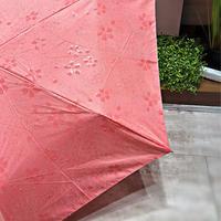 【折 50cm 浮き出シリーズ】傘専門店 通販 東京 折りたたみ傘 UV 晴雨兼用 レディース メンズ 旅傘【Flat Pink】