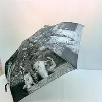 【 Monotone 】傘専門店 通販 東京 レディース 折りたたみ グラスファイバー 旅傘【Animal Series  cat2】