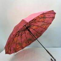 【リバーシブルシリーズ】55cm 傘専門店 通販 ワンタッチ 東京 旅傘【サテン ゴブラン Red】