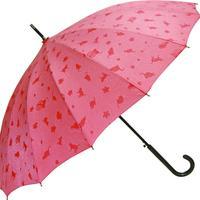 浮き出る傘  傘専門店  通販  東京  雨傘  ワンタッチ  ジャンプ  グラスファイバー  サビない  旅傘  【16本骨  浮水  猫ちゃん  ピンク  】