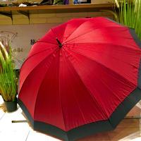 【浮き出シリーズ】傘専門店 通販 東京 雨傘 ワンタッチ ジャンプ 黒骨 サビない 旅傘【濡れると模様が浮き出る 桜柄 エンジ】
