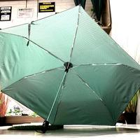 【自動開閉  スリム】傘専門店 通販 東京 折りたたみ傘 ワンタッチ レディース メンズ 旅傘【ドビー 55cm Green】