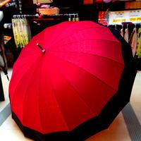 傘専門店  通販  東京  雨傘  ワンタッチ  ジャンプ  グラスファイバー  サビない  旅傘  【16本骨 男女兼用  和風ツートン 】