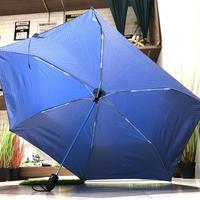 【自動開閉  スリム】傘専門店 通販 東京 折りたたみ傘 ワンタッチ レディース メンズ 旅傘【ドビー 55cm BLUE】