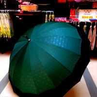 傘専門店  通販  東京  雨傘  ワンタッチ  ジャンプ  グラスファイバー  サビない  旅傘  【16本骨   和風ツートン 角麻  】