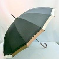 【16本骨シリーズ】58cm 傘専門店 通販 東京 UV 折り畳み 旅傘【切り継ぎ D】