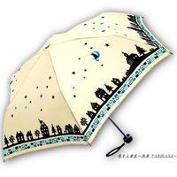 【風速25mまで耐える】傘専門店 通販 東京 折りたたみ 雨傘 グラスファイバー サビない 旅傘 【耐風 夜空と猫ちゃん White】