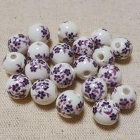 10mm陶瓷ビーズ/紫(5個セット)