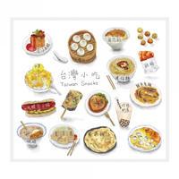 【BYC】マルチクロス(メガネふき)「台湾小吃」
