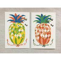 【小幡明】台湾の縁起もの・パイナップルのポストカード