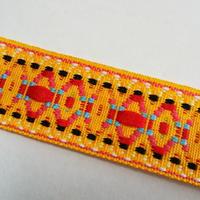 20mmチロリアンテープ「黄色オーバル柄」(30cm単位)