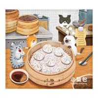 【BYC】マルチクロス(メガネふき)「猫&小籠包」