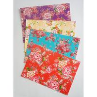 台湾ポストカード4枚セット「台湾花布」カラー1