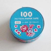 台湾マスキングテープ「客家藍布花」