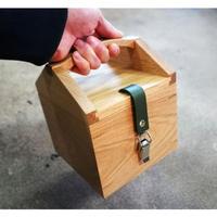 MUKU storage box  half【オーク】 -木と革の収納箱-