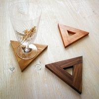 triangle coaster  - 木を組んで作った三角のコースター -