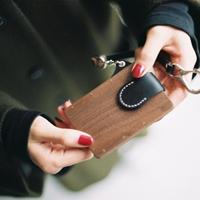 IC card case ウォールナット - 木と革のパスケース ICカード入れ -