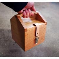 MUKU storage box  half【チェリー】 -木と革の収納箱-