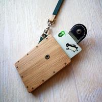 IC card case オーク - 木と革のパスケース ICカード入れ -