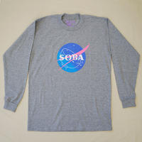 LONG SLEEVE TEE 6.5oz  SOBA(Grey / Grade)