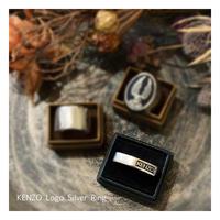 KENZO Logo Silver Ring