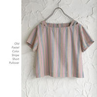 Pastel Color Stripe Shortブラウス