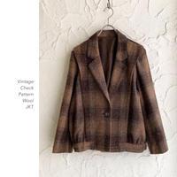 Vintage Check Pattern Woolブルゾン