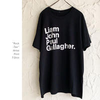 Liam Gallagher プリントTee