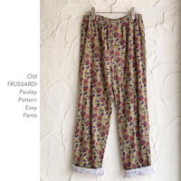 Old TRUSSARDI Paisley Patternイージーパンツ